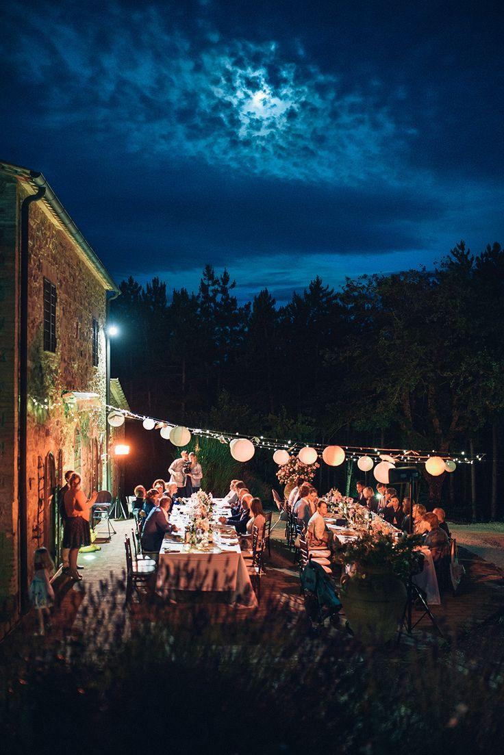 wedding reception - wedding in italy - wedding in tuscany - wedding lights - wedding lighting - outdoor wedding ph. Odiza Fotografie
