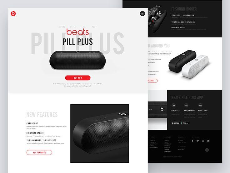 Beats Pill Plus Landing Page Concept by   #Design Popular #Dribbble #shots