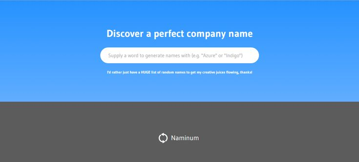 The ideaof a random name generator for businesses or startups is hardly a new one. Quite frankly, a quick Google search reveals loads of them. However, Naminum's is one that... Keep reading →