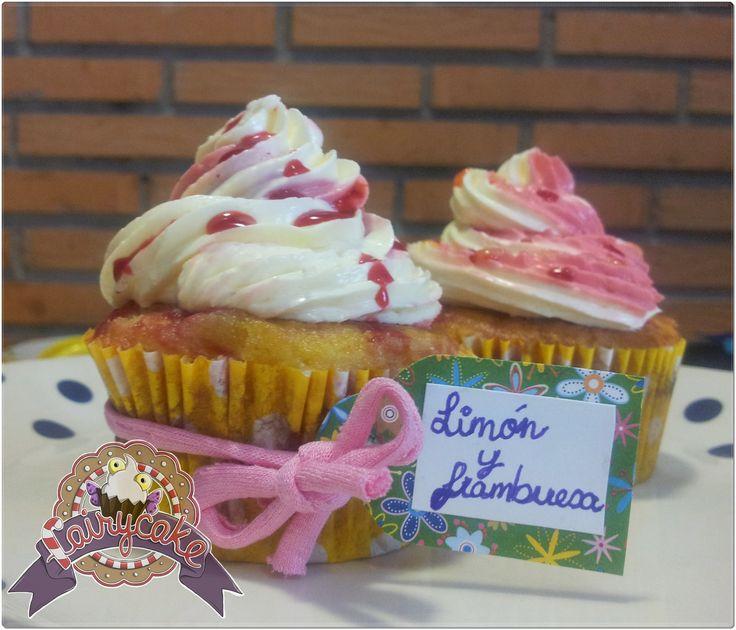 Cupcakes rústicos. Limón y frambuesa