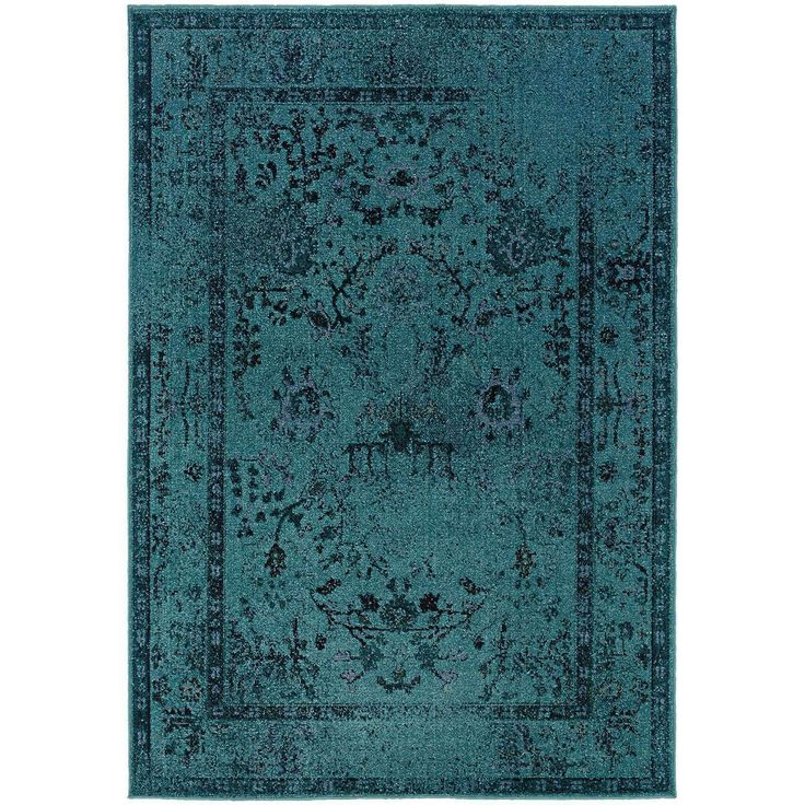 Revival 550H Teal Traditional Rug by Oriental Weavers