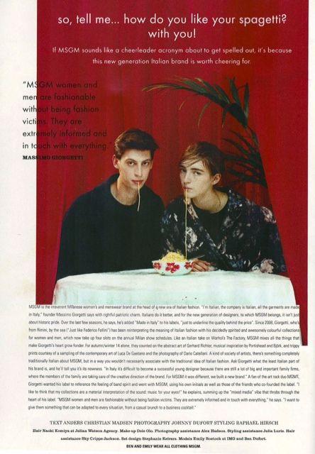 MSGM in I-D Magazine