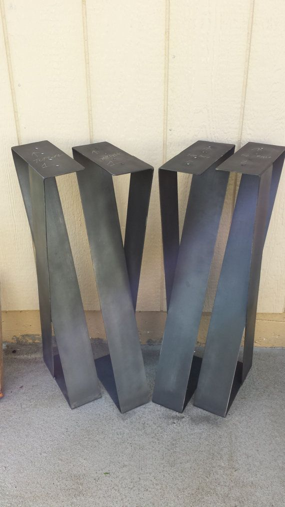X Shape steel furniture legs / desk legs (SET of 2)