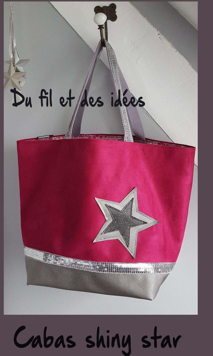 sac cabas suédine haute gamme et simili pailleté