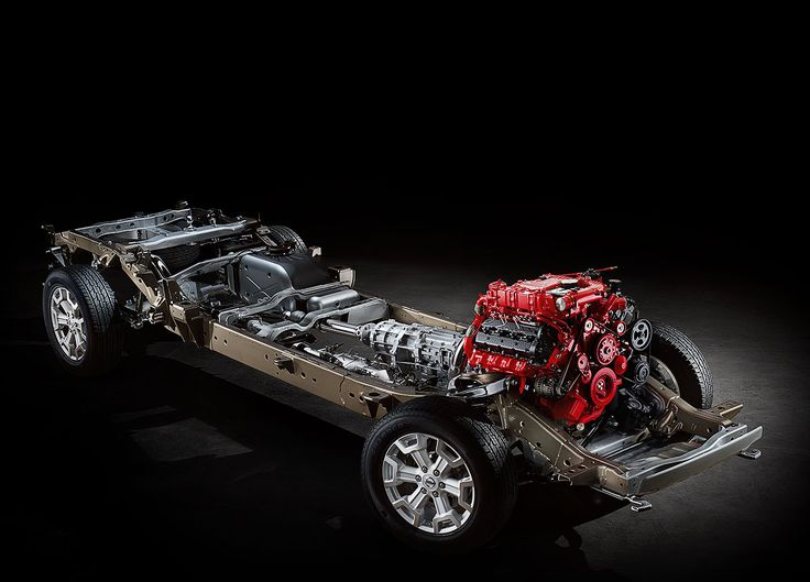 Drivetrain in the Brand new Nissan Titan XD It has a Cummins 5.0 V-8 Diesel Engine