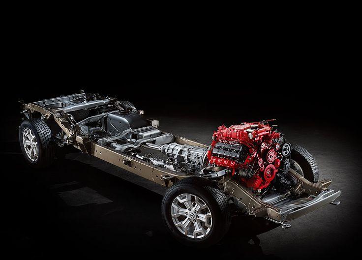Drivetrain in the Brand new Nissan Titan XD It has a Cummins 5.0 V-8 Diesel Engine