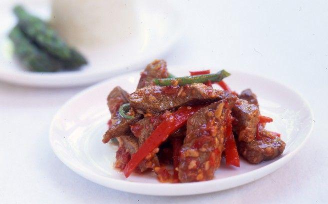 Chinese Chilli garlic beef Recipe- Dish | Asian Inspirations