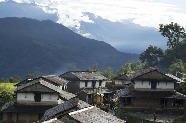 View of Dhampus village, Nepal