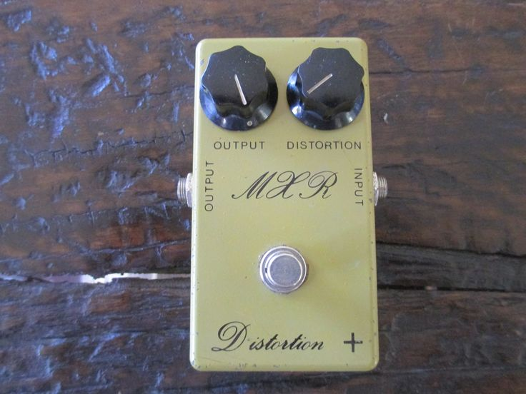 Rare '77 1977 MXR Distortion + (Plus) Script Logo. One of a kind vintage tone!