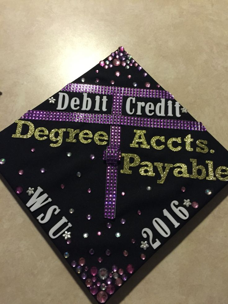 Accounting theme graduation cap I made 42