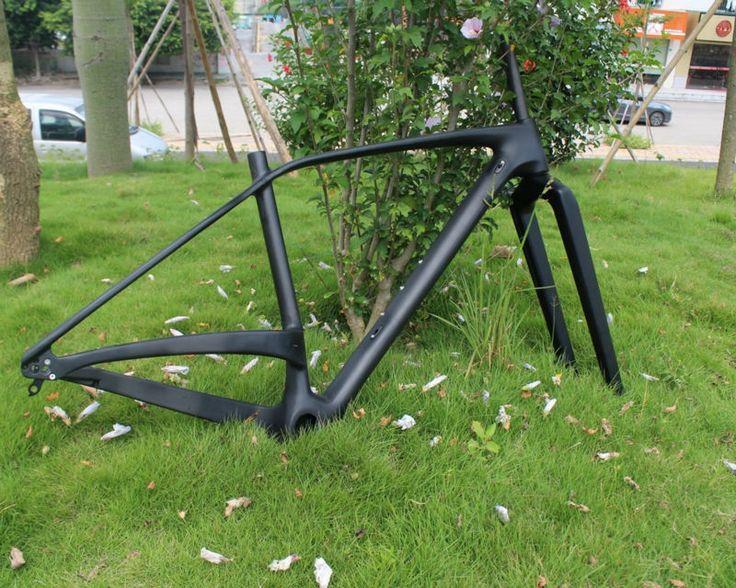 """535.00$  Buy now - http://alisk0.worldwells.pw/go.php?t=32534956567 - """"2016 Full Carbon Matt MTB 29"""""""" Wheel Mountain Bike Bicycle 29ER BSA Frame + Fork + Headset"""" 535.00$"""