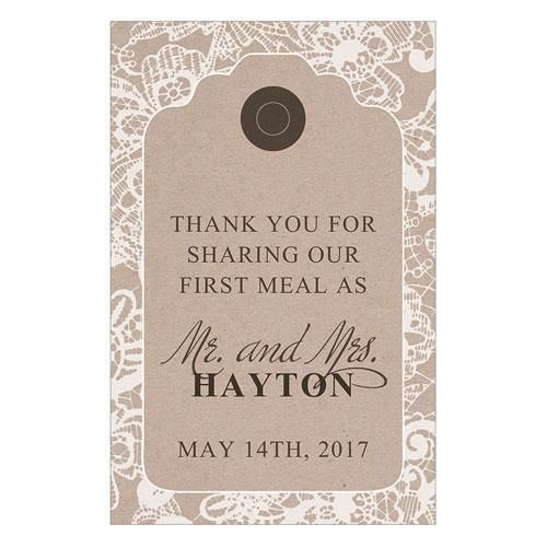 Lace Medley Napkin Tag Charcoal (Pack of 1)