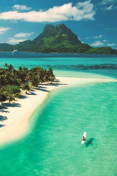 Beach in Tahiti.