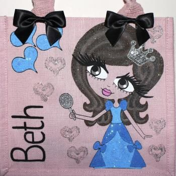 HunniBunni Beth Little Miss Princess Personalised Mini Juco Bag