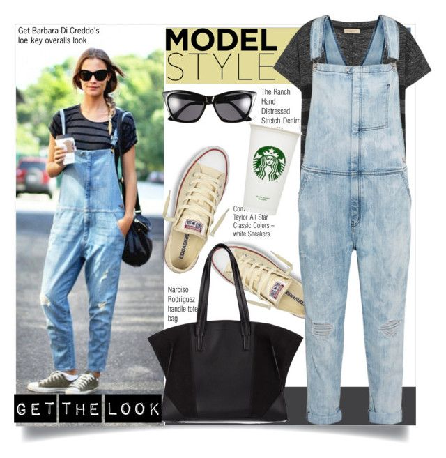 """""""Model off duty:Overalls"""" by theglossyspace ❤ liked on Polyvore featuring Converse, Narciso Rodriguez, Burberry, Current/Elliott and polyvoreeditorial"""
