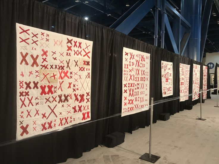 Wall 3 of The 70273 Project Special Exhibit at the International Quilt Festival 2017
