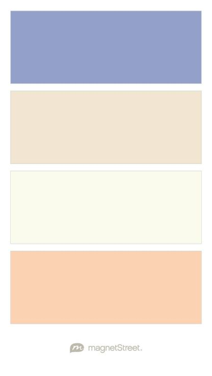 Periwinkle, Champagne, Ivory, and Peach Wedding Color Palette - custom color palette created at MagnetStreet.com