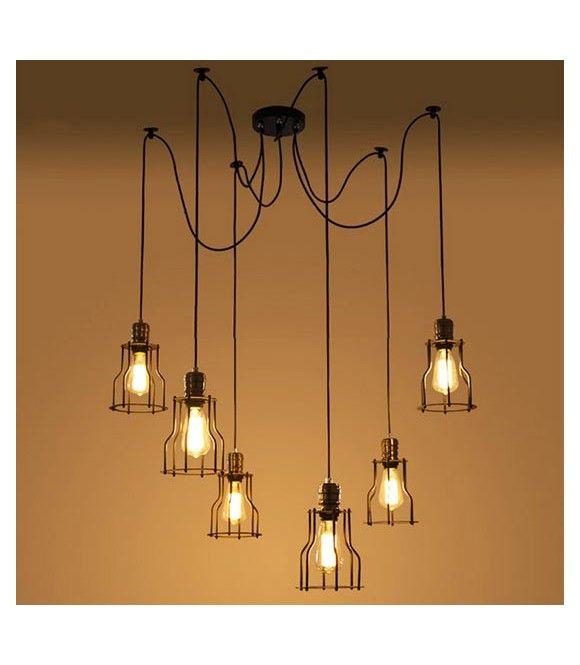 lampe suspension d corative vintage avec suspension plafond id al pour une utilisation avec 5. Black Bedroom Furniture Sets. Home Design Ideas