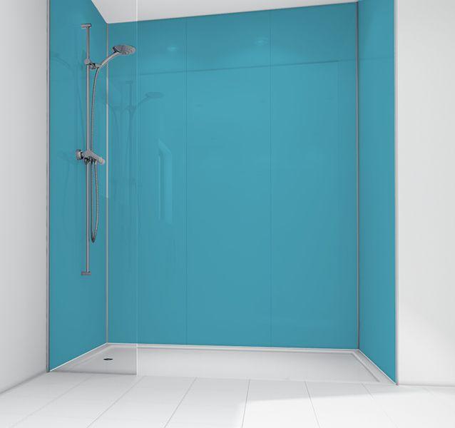 Mermaid Aqua Gloss Acrylic 900x900mm Wall Kit ...