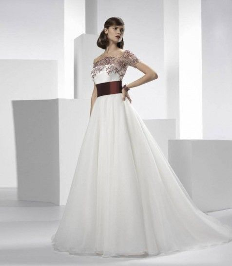 a touch of color, italian wedding couture