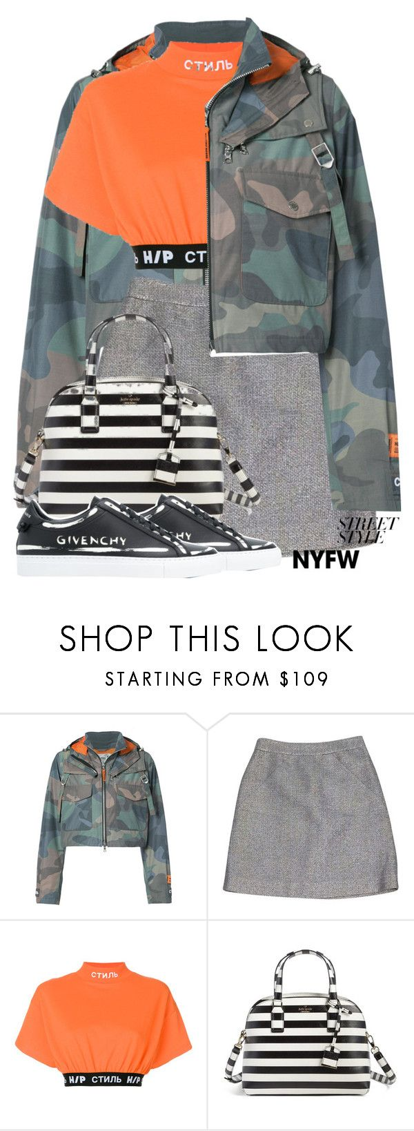 """you're my wonderwall"" by icedtealee ❤ liked on Polyvore featuring Heron Preston, Kate Spade, Givenchy, contestentry and nyfwstreetstyle"