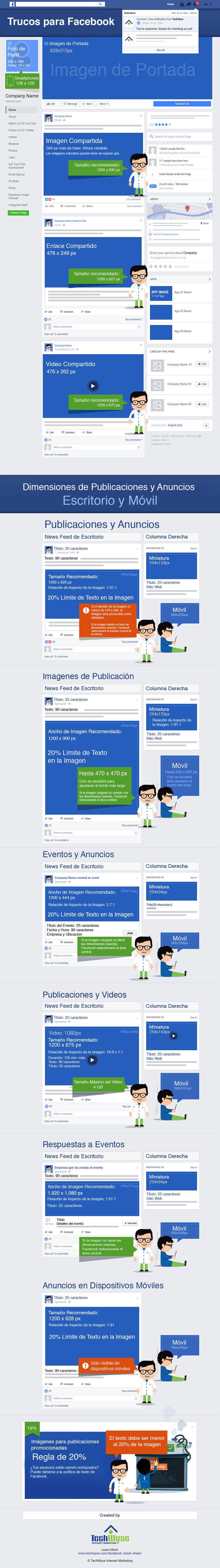 Tamaños de imágenes Facebook 2017. Guía completa.