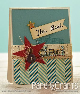 I like the diagonal lines on the bottom of the cardMoxie Fab, Cards Ideas, Cards Stars, Betsy Buttram, Masculine Cards, Buttram Veldman, Betsy Veldman, Dads Cards, Paper Crafts