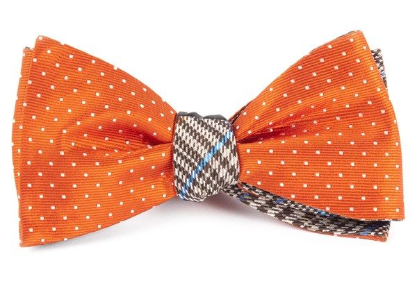 MINI PLAID BOW TIES - ORANGE | Ties, Bow Ties, and Pocket Squares | The Tie Bar