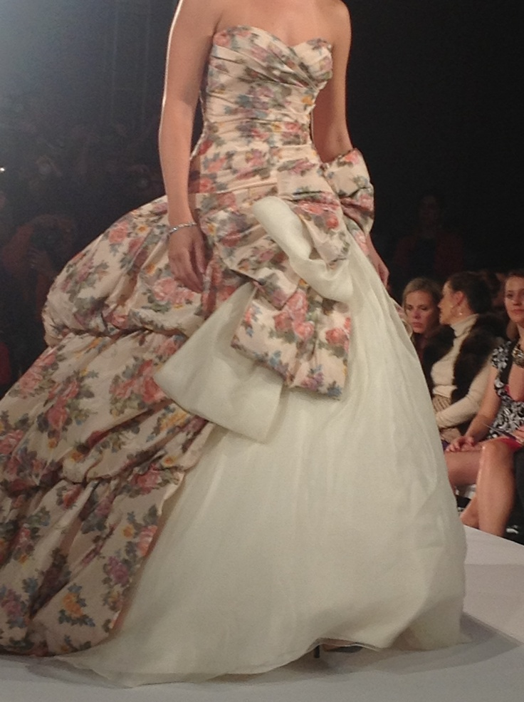 Ian stuart floral wedding dress for some reason today i for Floral dresses for weddings