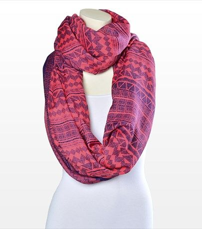Go tribal this season with this colourful aztec print scarf!