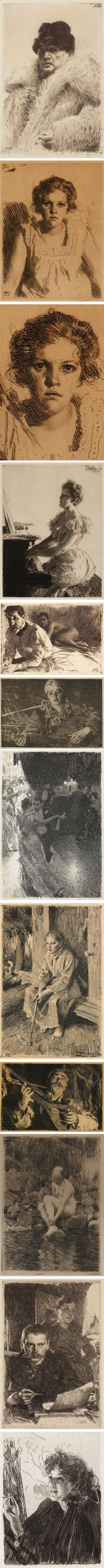 Anders Zorn's etchings