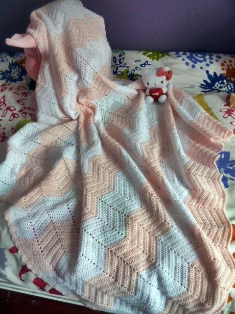 colcha hecha a mano de ganchillo-crochet