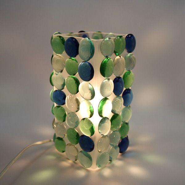 DIY Sea Glass Lamp