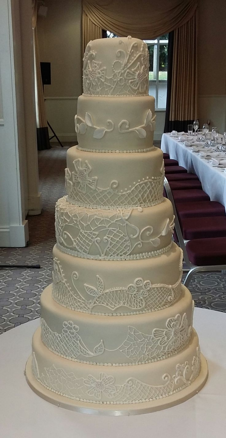 7 Tier Ivory Wedding Cake