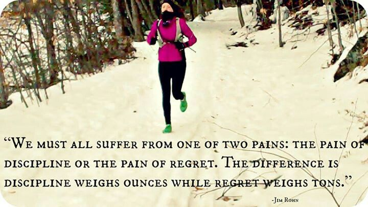 We must all suffer from one of two pains: The pain of discipline or the pain of regret. The difference is discipline weighs ounces while regret weighs tons.