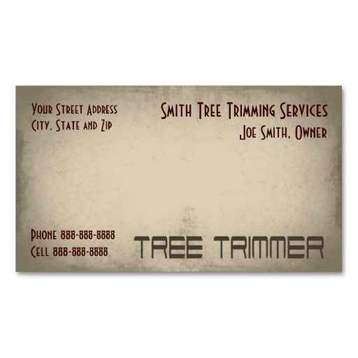 189 best tree trimmer business cards images on pinterest for Tree removal business cards
