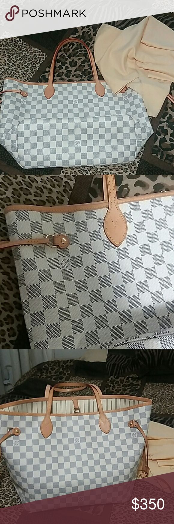 Checkered bag Great quality you will never missed.neverful MM size clean  smoke free home.leather and has datecode (Not Auth) Louis Vuitton Bags Shoulder Bags