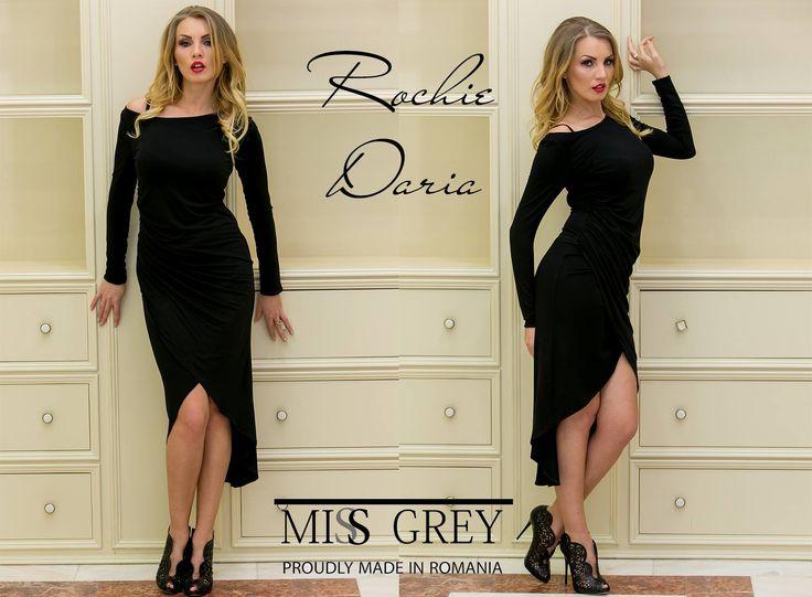 This spring, enjoy a versatile and feminine black dress! Shop it here: https://missgrey.ro/ro/produse-noi/rochie-daria/280?utm_campaign=colectie_februarie&utm_medium=daria_postare&utm_source=pinterest_produs