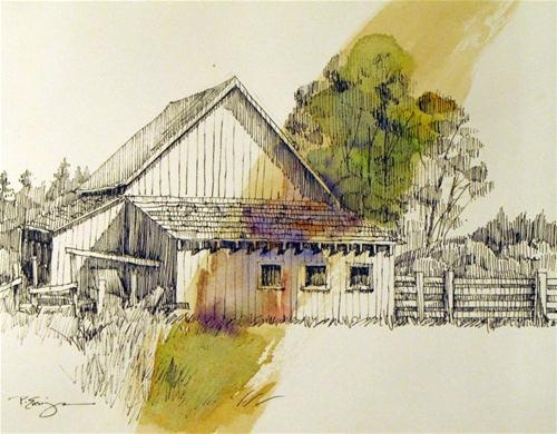 """Barn on Day Road"" - Original Fine Art for Sale - © Paula Ensign"