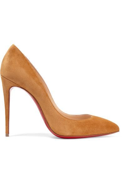 Christian Louboutin - Pigalle Follies 100 Suede Pumps - Yellow - IT39.5