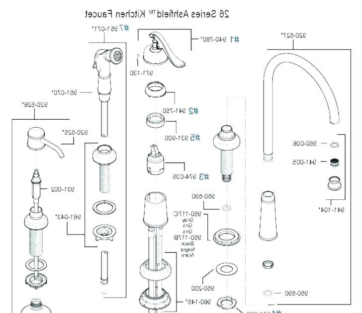 Bathroom Faucet Assembly Diagram Di 2020