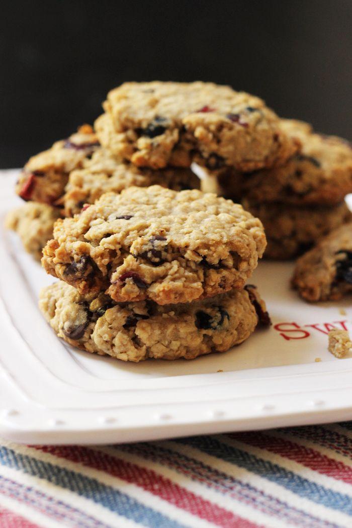 Cranberry Blueberry Oatmeal Cookies - Good Cheap Eats