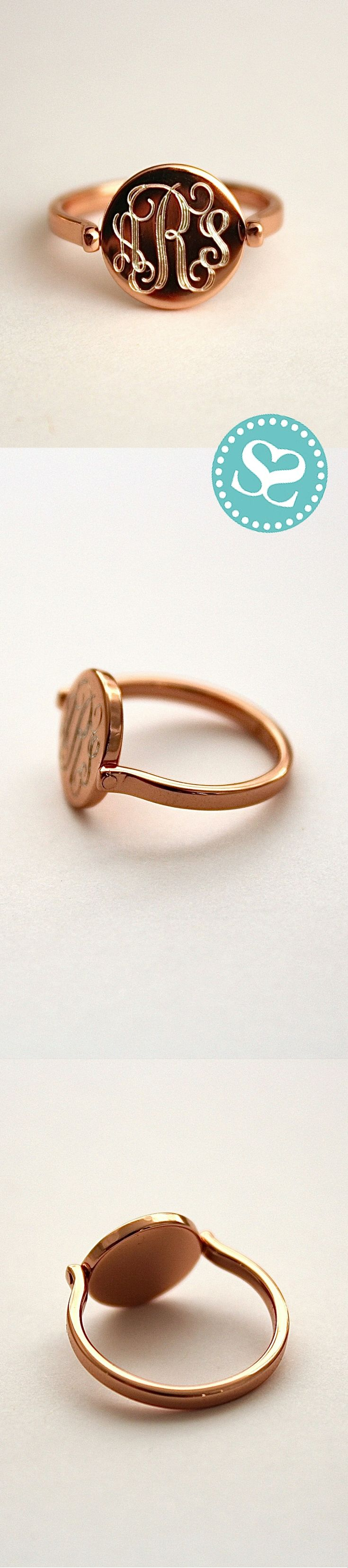 The Rosie Ring in Sterling Silver with Rose Gold Plating.  #Luxe #SwellCaroline
