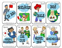 Tower of Babel Printables Language Cards. Two pages