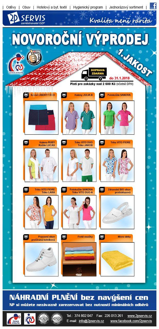 ★ Novoroční výprodej zboží 1. jakosti za Zvýhodněné Ceny ★