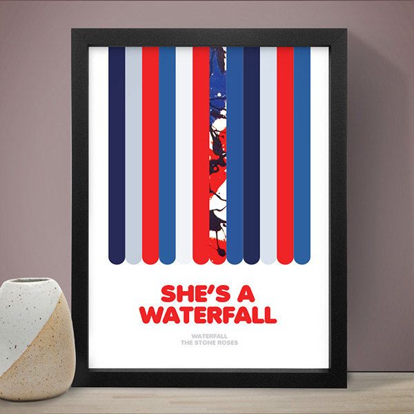 The Stone Roses - Waterfall Poster, Music Poster, Song Lyric Print, Song Lyrics by LawandMoore on Etsy https://www.etsy.com/uk/listing/186093226/the-stone-roses-waterfall-poster-music