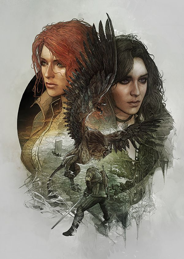 The Witcher III: Wild Hunt - Yennefer and Triss Steelbook Artwork