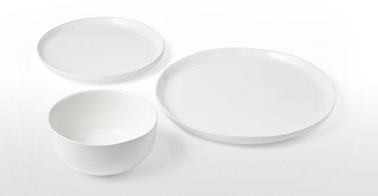 Kobe 12-teiliges Geschirrset aus Ton, Weiß ► Design, das dein Zuhause schöner macht: Entdecke jetzt neue Wohnaccessoires bei MADE.