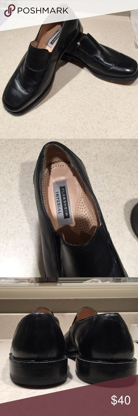 Men's Florsheim Imperial black leather shoes Black loafers are size 8.5 3E. Like new condition. Florsheim Shoes Loafers & Slip-Ons
