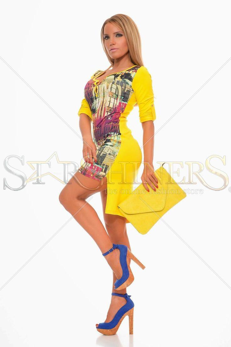 MissQ Longer Cut Yellow Dress